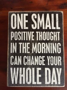 Practicing Person - One Small Positive Thought In The Morning Can Change Your Whole Day